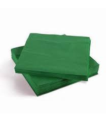 SOLID COLOUR EMERALD GREEN SERVIETTES 20s