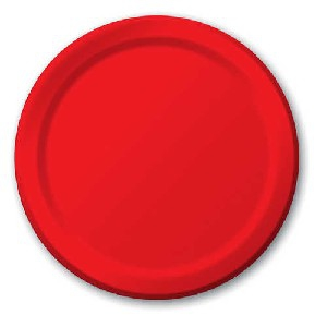 SOLID COLOUR RED PLATES 22,2CM