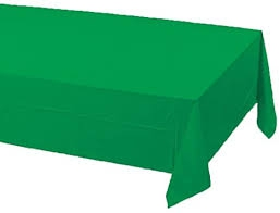 SOLID COLOUR EMERALD GREEN TABLECLOTHS PLASTIC
