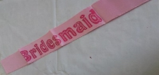 BRIDE TO BE SASH SATIN BRIDESMAID