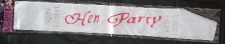 BRIDE TO BE SASH SATIN HEN PARTY WHITE DIAMONDS