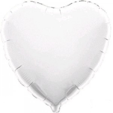 18 INCH FOIL HEART BALLOON WHITE