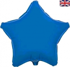 19 INCH FOIL DÉCOR STAR BLUE STAR