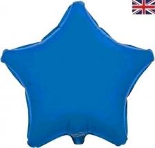 19 INCH FOIL DÉCOR STAR BLUE STAR