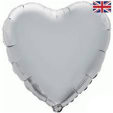18 INCH FOIL HEART BALLOON SILVER