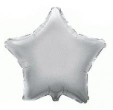 19 INCH FOIL DECOR STAR SILVER STAR