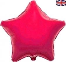 19 INCH FOIL STAR BALLOON FUSCHIA