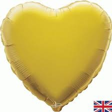 18 INCH FOIL HEART GOLD