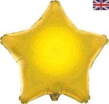 19 INCH FOIL DÉCOR STAR GOLD STAR