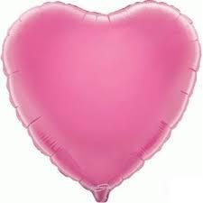 18 INCH FOIL HEART BALLOON PINK