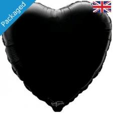 18 INCH FOIL HEART BALLOON BLACK