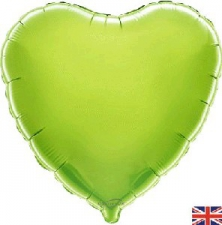 18 INCH FOIL HEART BALLOON LIME GREEN