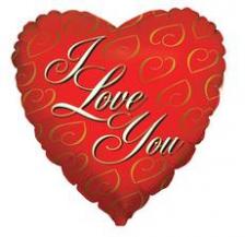 18 INCH FOIL VALENTINE 24K LOVE