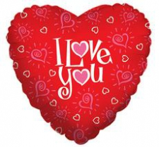 18 INCH FOIL LOVE YOU HEARTS