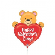 14 INCH FOIL VALENTINE BEAR