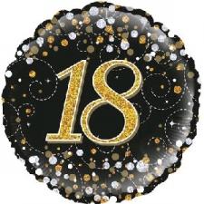 18 INCH FOIL BLACK FIZZ 18TH BIRTHDAY BALLOON