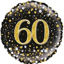 18 INCH FOIL BLACK FIZZ 60TH BIRTHDAY BALLOON