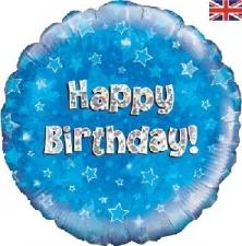 18 INCH FOIL BLUE HAPPY BIRTHDAY BALLOON
