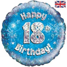 18 INCH FOIL BLUE 18TH BIRTHDAY BALLOON