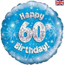 18 INCH FOIL BLUE 60TH BIRTHDAY BALLOON