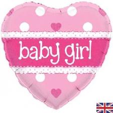 18 INCH FOIL BABY GIRL BALLOON