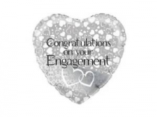 18 INCH FOIL ENTWINED HEARTS ENGAGEMENT