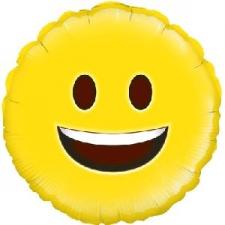 18 INCH FOIL EMOJI BALLOON SMILEY