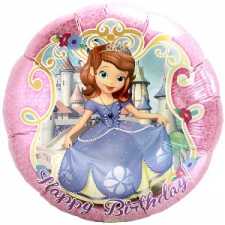 18 INCH SOPHIA BALLOON HAPPY BIRTHDAY
