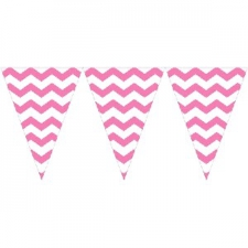 CANDY PINK CHEVRON BUNTING 7.5
