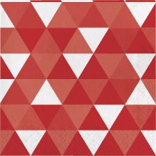 RED FRACTAL SERVIETTES LUNCHEON 2PLY