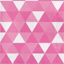 CANDY PINK FRACTAL SERVIETTES LUNCHEON 2PLY