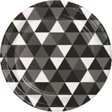 BLACK FRACTAL DINNER PLATE 9