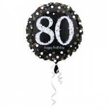 18 INCH SPARKLING 80TH BALLOON