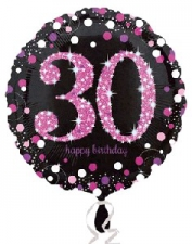 18 INCH SPARKLING PINK 30TH BIRTHDAY BALLOON