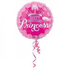 18 INCH BIRTHDAY PRINCESS BALLOON HAPPY BIRTHDAY