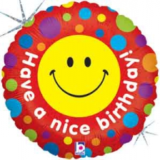 18 INCH FOIL HAPPY BIRTHDAY BALLOON HAVE A NICE DA