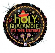 18 INCH FOIL HAPPY BIRTHDAY BALLOON HOLY GUACAMOLE