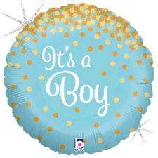 18 INCH FOIL BABY BOY BALLOON GLITTERING