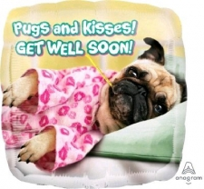 18 INCH FOIL GET WELL PUG