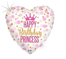 18 INCH FOIL BIRTHDAY PRINCESS GLITTER
