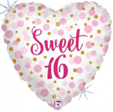 18 INCH FOIL SWEET 16 BALLOON