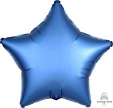 18 INCH SATIN STAR BALLOON BLUE