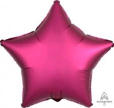 18 INCH SATIN STAR BALLOON DARK PINK