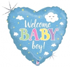 18 INCH FOIL BABY BOY BALLOON WELCOME