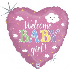 18 INCH FOIL BABY WELCOME GIRL
