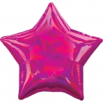 18 INCH HOLOGRAPHIC STAR BALLOON PINK