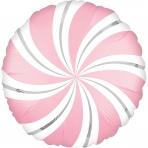 18 INCH SATIN STAR BALLOON CIRCLE SWIRL PINK