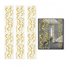PARTY PANELS CONFETTI GOLD 3S 12INCHX 6FOOT