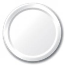 SOLID COLOUR WHITE PLATES 7