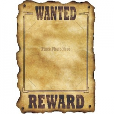 WESTERN CUTOUT WANTED SIGN